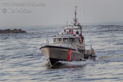 Coast Guard on a stormy day - Morro Bay, California