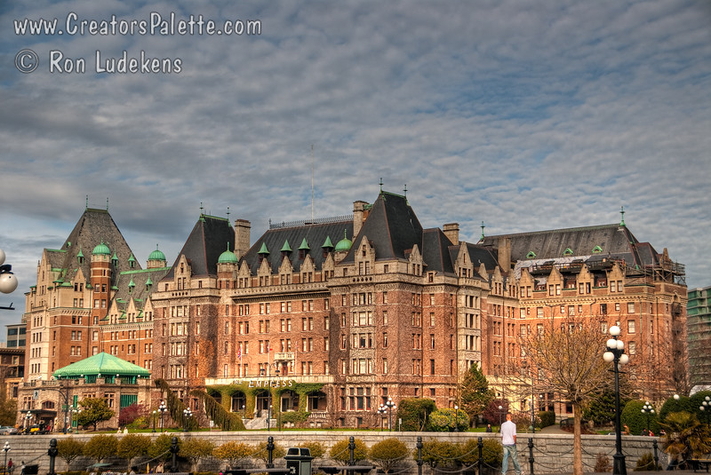 Empress Hotel in Victoria near the Inner Harbor.