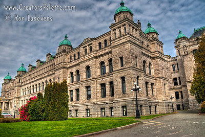 British Columbia's Legislative Buildings in Victoria near the Inner Harbor