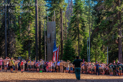 End of Day Flag Lowering Ceremony