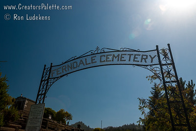 Ferndale Cemetary.  Probably the most amazing cemetary I have seen.  Picturesque and full of history.