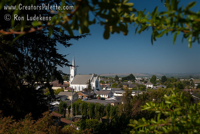 View of Ferndale from Ferndale Cemetary.