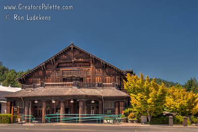 Winema Theater in Scotia, California - built with Redwood.