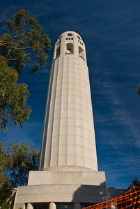 Coit Tower on Telegraph Hill in San Francisco.