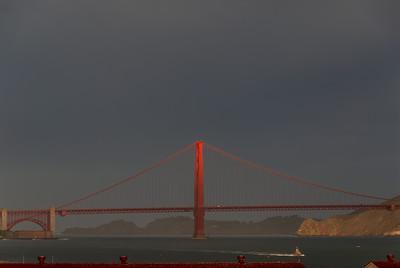 Golden Gate Bridge as seen from upper Fort Mason.