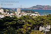 View from Telegraph Hill over North Beach to view Golden Gate Bridge