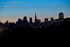 San Francisco sunrise skyline as seen from Golden Gate Bridge