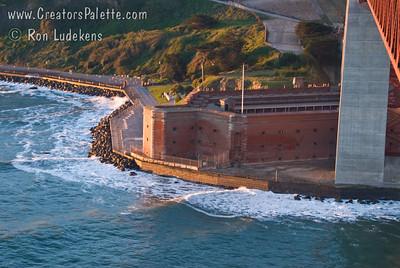 Fort Point below Golden Gate Bridge