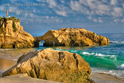 Photo taken at Arch Cove in Laguna Beach, CA