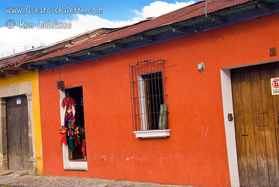 Guatemala Mission Trip - Day 8 - Friday, November 16, 2007 I love the colors of the walls and doors.  Antigua Guatemala.