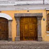 Guatemala Mission Trip - Day 8 - Friday, November 16, 2007   <br /> Houses and businesses in Antigua Guatemala.  A city full of colorful buildings and doors.