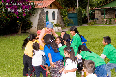 Children loved tickling and being ticked by Colette. Guatemala Mission Trip - Day 3 -  Sunday, November 11, 2007