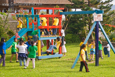 First part of afternoon was a free time of playing.  One thing I noticed, all the kids were smiling, no one was pushing or shoving or cutting in line.  That great behavior I have not seen in our playgrounds in the States. Guatemala Mission Trip - Day 3 -  Sunday, November 11, 2007