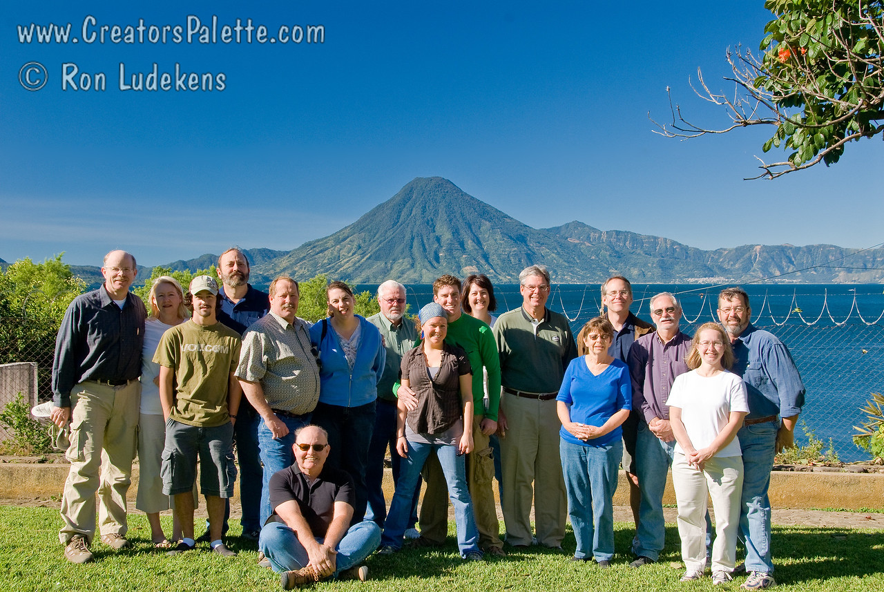 Team Photo before leaving Buenas-Nuevas compound in Panajachel to begin trip home.<br /> Guatemala Mission Trip - Day 8 - Friday, November 16, 2007