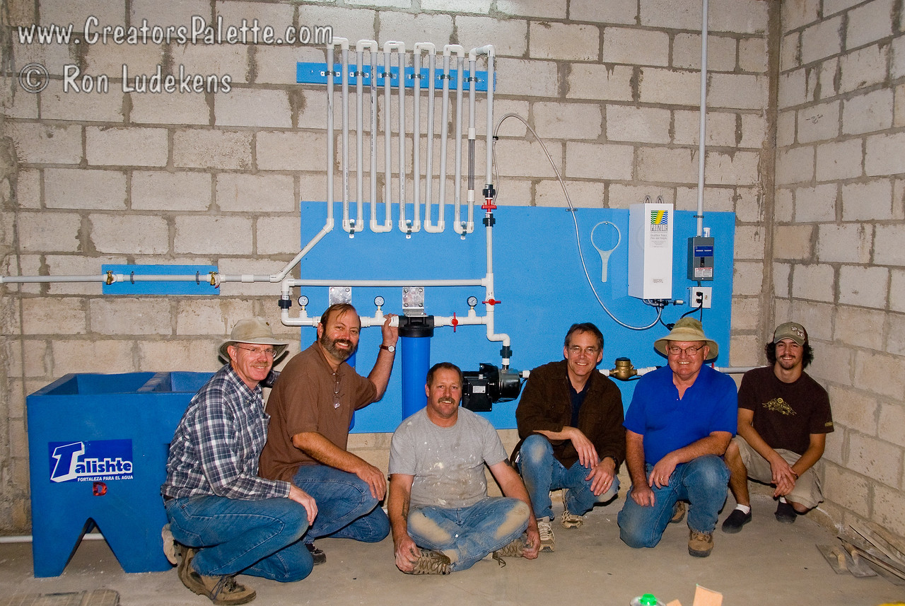 Team photo of those who installed the Clean Water System.  We are now making clean water<br /> Guatemala Mission Trip November, 2007