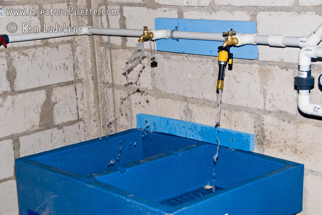 Complete wash, rinse and filling station.<br /> Guatemala Mission Trip - Day 6 - Wednesday, November 14, 2007