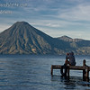 Another photographer capturing the sunrise and early morning views along shore of Lake Atitlan in Panajachel.  San Pedro Volcano across the lake.  City of San Pedro to right of volcano.<br /> Guatemala Mission Trip - Day 3 -  Sunday, November 11, 2007