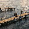 Boat docks in the early morning light along shore of Lake Atitlan in Panajachel.   <br /> Guatemala Mission Trip - Day 3 -  Sunday, November 11, 2007