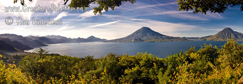 Guatemala Mission Trip - Day 4 - Monday, November 12, 2007 We stopped at a lookout above Panajachel to view Lake Atitlan and surrounding volcanoes.