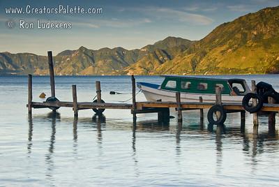 Guatemala Mission Trip - Day 4 - Monday, November 12, 2007 Sunrise and early morning photo of Lake Atitlan at Panajachel.