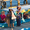 Local vendors selling the wares to passengers waiting to leave on a lake tour in a water taxi.<br /> Guatemala Mission Trip - Day 6 - Wednesday, November 14, 2007