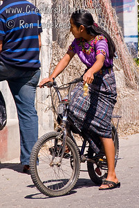 Guatemala Mission Trip - Day 3 -  Sunday, November 11, 2007 Only time I saw a Guatemala woman in control of her own transportation.  Usually see them walking or on the back of a motorcycle or a passenger in a vehicle.