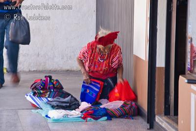 Guatemala Mission Trip - Day 3 -  Sunday, November 11, 2007  Older Guatemalan woman selling wares on the street.