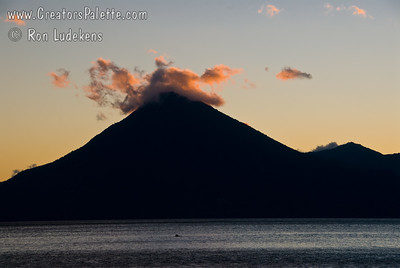 Guatemala Mission Trip - Day 7 - Thursday, November 15, 2007 Sunset over Lake Atitlan from Panajachel, Guatemala.