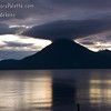 Guatemala Mission Trip - Day 5 -  Tuesday, November 13, 2007<br /> Sunset over Lake Atitlan from Panajachel, Guatemala.   Interesting cloud cap over San Pedro Volcano.