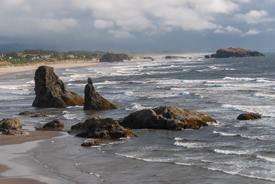 Rugged Oregon coast north of Cape Blanco and just south of Bandon.