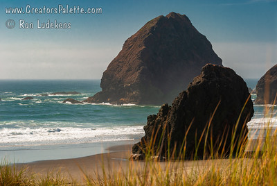Beaches and stacks south of Gold Beach