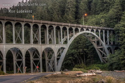 Cape Creek Bridge - standing in the parking lot for Heceta Head Lighthouse and Bed & Breakfast