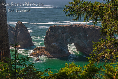 Views from Arch Rock turnout between Brookings and Gold Beach
