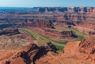 View of Colorado River from Dead Horse State Park near Moab, Utah
