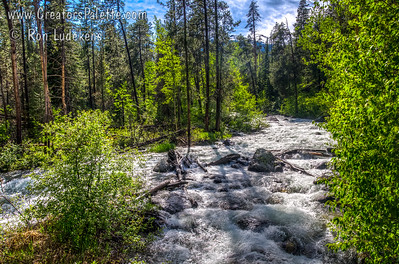 Creek crossing Moose-Wison Road on way to Teton Village, WY