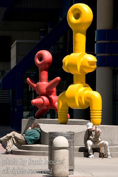 Crazy sculptures downtown Calgary