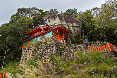 Gotobiki Iwa rock, Kamakura Shrine, on Mt Gongen. Near Hayatama Taisha in Shingu.