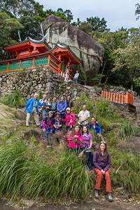 This group shot taken by the resident caretaker-guide.