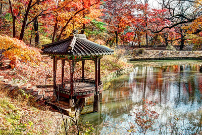 A pavilion in Jondeokjeong, the Secret Garden