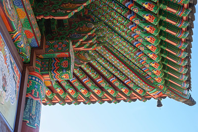 Bongwon-sa temple eaves