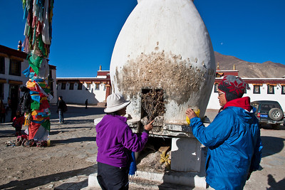 Incense burner at Samye monastery, the first Buddhist monastery in Tibet.