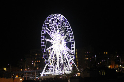 Weston Wheel on bonfire night