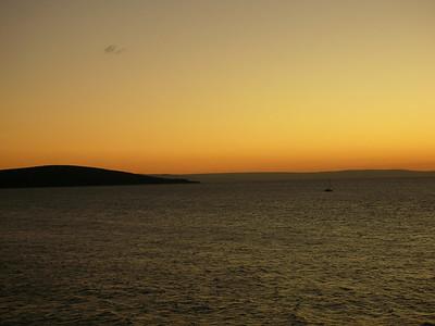 Sunset over Weston bay