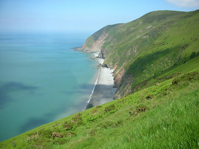 View from Countisbury Hill (this is the road along which the residents of Lynmouth carried the lifeboat to Porlock in the 1890's - only about 10 miles up hill!)