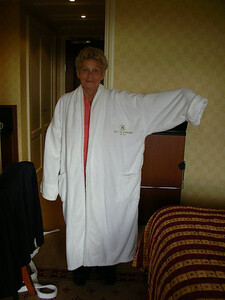 The dressing gowns were a little too big!