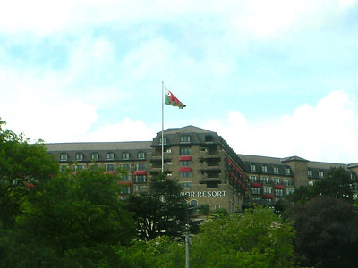 Unmistakable view of Celtic manor