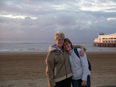 My sister and I on the beach. I was so, so pleased that she flew in from France to join in the fun.