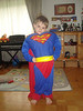 Jack in his Superman outfit that we sent.