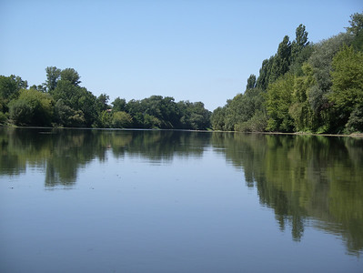 Perfectly still - we had the river to ourselves and saw a Kingfisher amonst other things