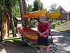 Preparing for a canoeing trip along the Dordogne